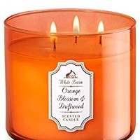 Bath & Body Works ORANGE BLOSSOM & DRIFTWOOD 3 Wick Large Jar Candle