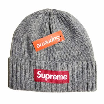 Supreme Knitted Beanie Hat Winter Cap Daily Wear