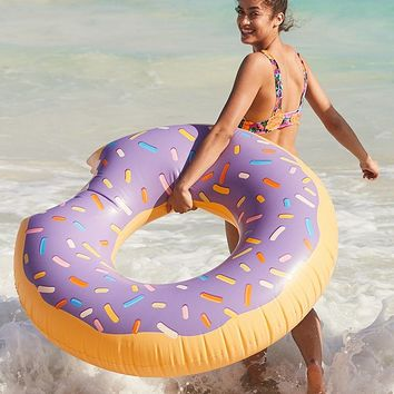 Lilac Donut Inner Tube Pool Float | Urban Outfitters