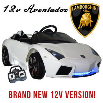 12v Two Seater Lamborghini Aventador Licensed Kids Ride On Car - £299.99 : Kids Electric Cars, Little Cars for Little People