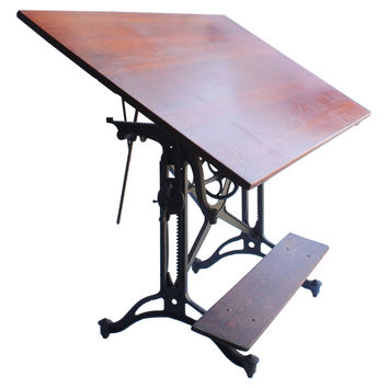 "Antique ""American Eagle"" Drafting Table by Keuffel & Esser Co."