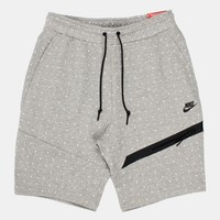 Buy Nike Tech Fleece Dots Shorts - Dark Grey Heather/Black from Urban Industry | Urban Industry