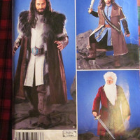 SALE Uncut Simplicity Sewing Pattern, 0203! Size SX-XL Men's/Boys/Halloween Costumes/Lord of the Rings/Dwarf King/Lord of the Ring Costumes