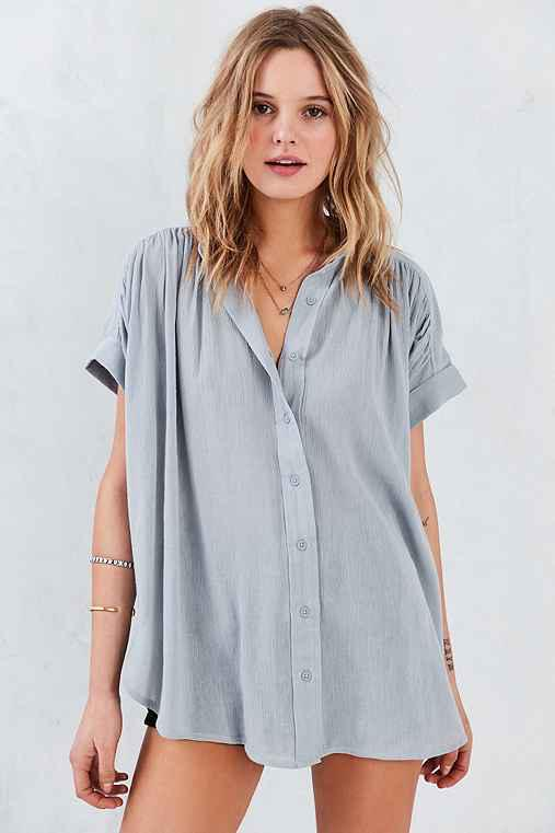 Ecote Annie Gauzy Button-Front Tunic from Urban Outfitters  8ed839df6