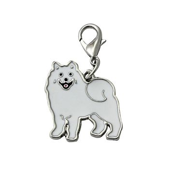 2016 Samoyed Dog Tag Pet doggy ID Enamel Accessories Collar Necklace Pendant puppy identity accessory decor drop shipping