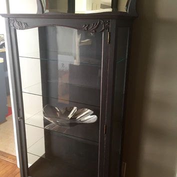Vintage Glass Curio / Display Cabinet Hutch