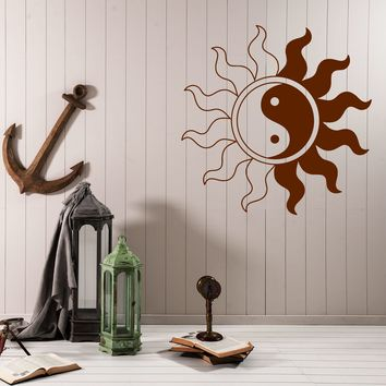Vinyl Decal Yin Yang Symbol Balance Symbol Buddhistic World Wall Sticker (n614)