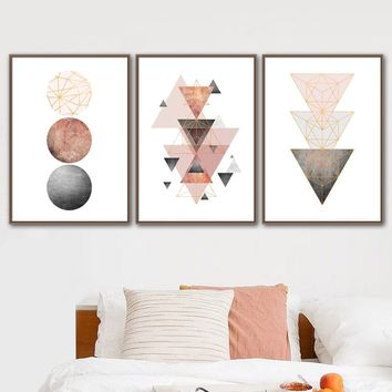 Geometric Round Arrow Wall Art Canvas Painting Posters And Prints Abstract Paintings For Living Room Wall Pictures Nordic Decor