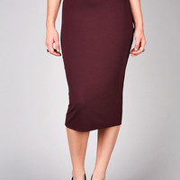 Essential Midi Skirt | Pencil Skirts at Pink Ice