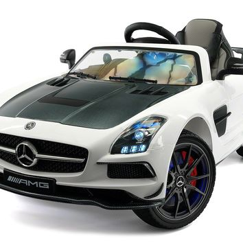 Mercedes SLS AMG Final Edition 12V Kids Ride-On Car with Parental Remote | White
