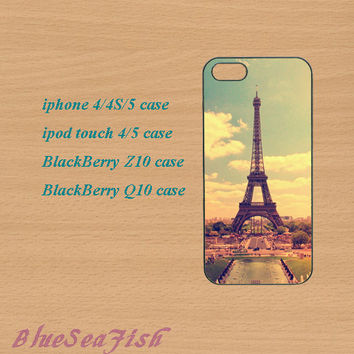 iphone 4 case,iphone 5 case,ipod touch 4 case,ipod touch 5 case,Blackberry z10 case,Blackberry q10--Eiffel Tower,in plastic and silicone