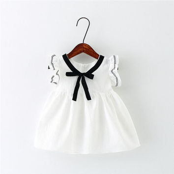 New Baby Summer Dress,Lovely Ribbon,Baby Girl Dress,Newborn,Toddlers,Baby Girl Clothes,for 0-24M Baby