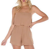 Beats Me Playsuit - Brown