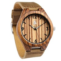 Wooden Watch // Zebrawood 44