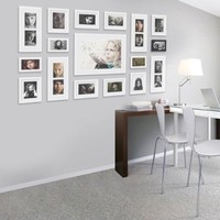 Wall Hanging Art Home Decor Modern Gallery 17-piece Wood Multi-piece Photo Frame Set . White Z854khg