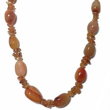 "22"" Chunky Amber Stone Nugget Necklace"