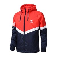 Adidas new sport coats men's hooded anti - ardi windbreaker sport casual woven jacket protective clothing