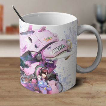 D.Va Overwatch Mug, Overwatch Coffee Mug, Overwatch,Overwatch Gifts, Overwatch Watercolor