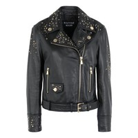 Boutique Moschino Women Leather Outerwear | Moschino.com