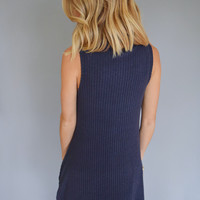 Midnight Sky Cowl Neck Tunic