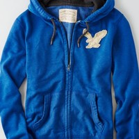 AEO Men's Applique Vintage Hoodie (Blue)