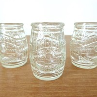 Three Jim Beam 200th Anniversary shot glasses in perfect condition, sold as set of three