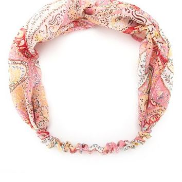 PAISLEY PRINT TWISTED HEADWRAP