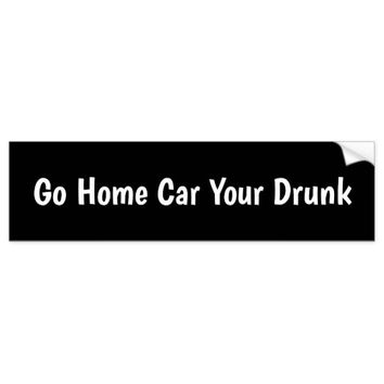 Go Home Bumper Sticker