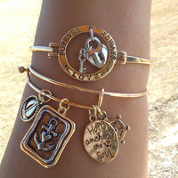Hope Anchors the Soul Bangle Bracelet