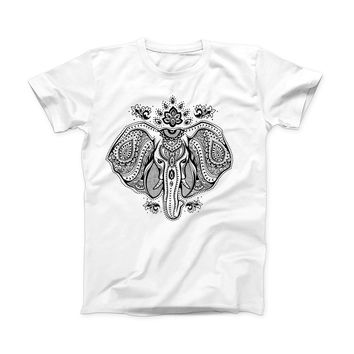 The Vector Sacred Elephant ink-Fuzed Front Spot Graphic Unisex Soft-Fitted Tee Shirt