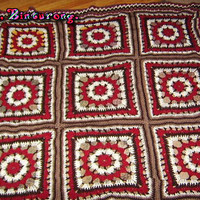 Flower Square Motif Blanket