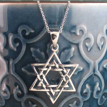 Six-Pointed Star of David Necklace