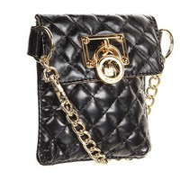 Michael Kors Black Quilted Fanny Pack