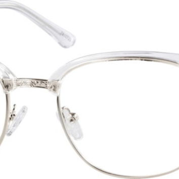 Translucent Browline Glasses #78107 | Zenni Optical Eyeglasses