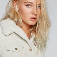 Free People Trucker Silver Lining Cord Jacket