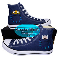 Hand Painted, Adventure Time, Fanart shoes, Custom converse, Birthday Gifts, Christmas Gifts, Art work anime shoes,