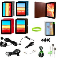 "CrazyOnDigital Cases With Charger And Screen Protector Accessories For Samsung Galaxy Tab P7510 10.1"" (17-items)"