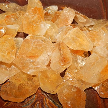 Genuine Raw CITRINE - HALF POUND Genuine Rough Citrine - Bulk Gemstones - Metaphysical Healing Crystals - Reiki - Chakra Stones - Gemstones