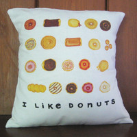 Donuts Throw Pillow 14X14