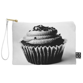 Allyson Johnson Black And White Cupcake Photograph Pouch