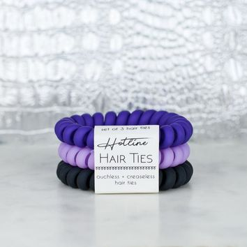 Hotline Hair Ties - Matte Lavender Stack