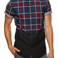 On The Byas Dave Dip Dye Short Sleeve Woven Shirt - Mens Shirt - Black -