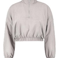 Plus Lauren Half Zip Pull On Jacket | Boohoo