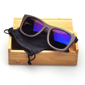 Fashion Ebony Wood Polarized sunglasses