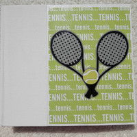 6x6 Chipboard Tennis Scrapbook Album