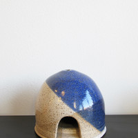 Wheel Ceramic Company Blue Round Incense Hut