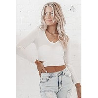 Lazy Day Long Sleeve Cut Out Top