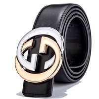 GUCCI Tide brand double G head wild simple smooth buckle belt