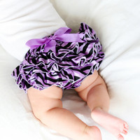 Purple Zebra Ruffle Bloomer