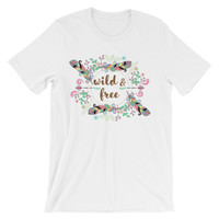Wild and free Unisex short sleeve t-shirt